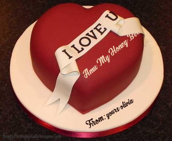 Heart Shaped Birthday Cake For Husband - Happy Birthday Cake Images ...