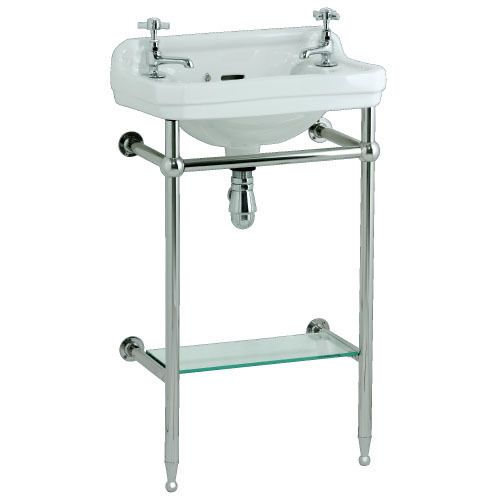 Edwardian cloakroom basin with stand