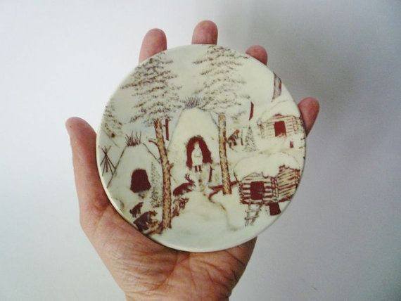 Vintage Small Arabia Finland Ethnic Wall Plate 1981 by oppning, €20.00