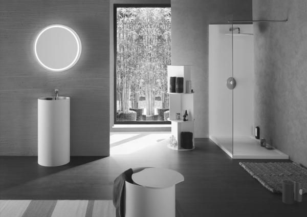 With Naos Wellness Design we want to present a new interpretation of the contemporary bathroom made entirely in Corian®. The result is a totally new space where