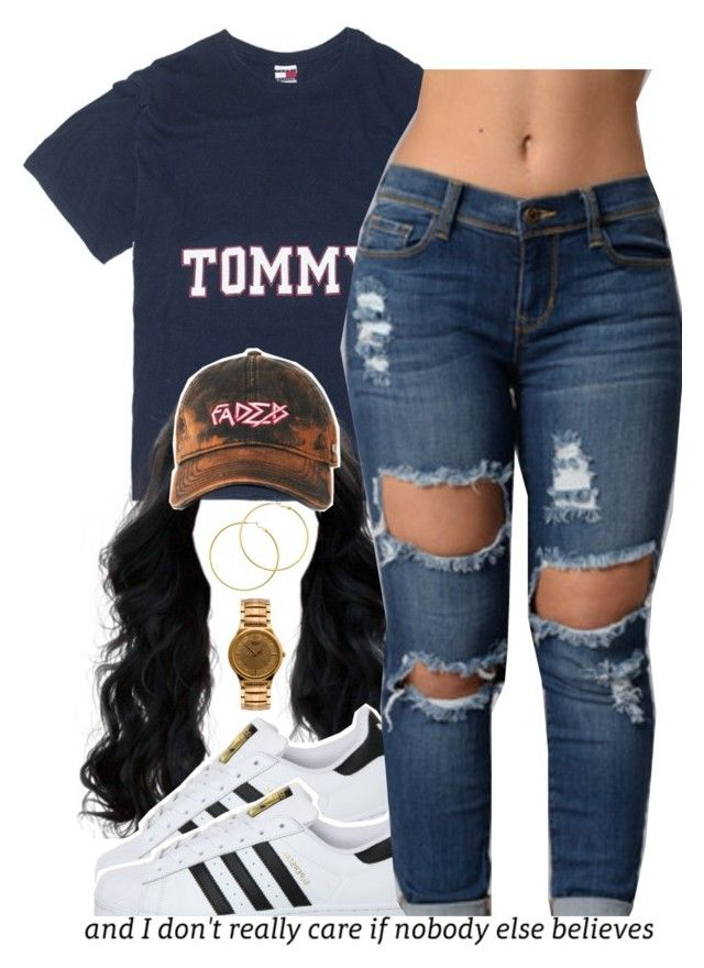 """tommy."" by trinityannetrinity ❤ liked on Polyvore featuring Melissa Odabash, adidas and American Apparel"