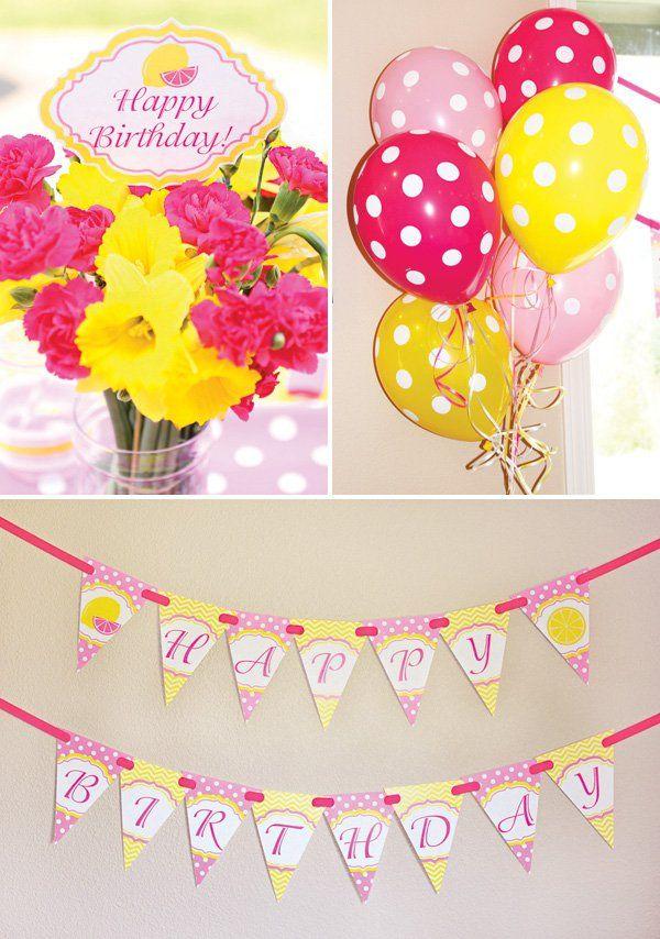 Sweet Summertime Pink Lemonade Birthday Party Birthday Party