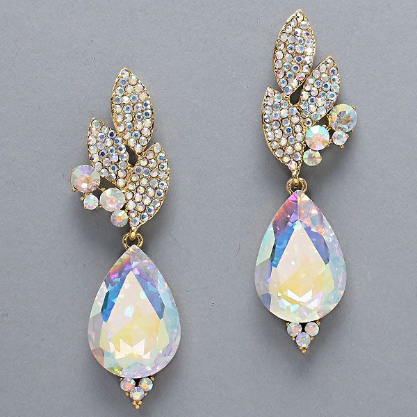 Crystal Grace Earrings in Iridescence on Emma Stine Limited