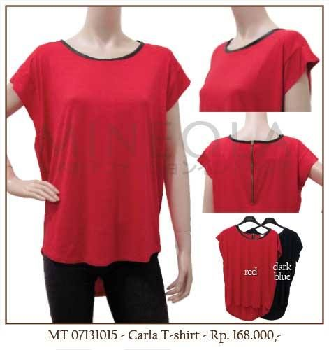 #MINEOLA Carla T-Shirt Red. Also available in dark blue. Only Rp.168.000,- Bust: 112cm - Length: 60cm (front) and 72cm (back) - Sleeve: 6cm. Fabrics: cotton. Product code: MT07131015   #MINEOLA #myMINEOLA #iWearMINEOLA #Fashion #OnlineShop #Indonesia #Jakarta #Brand #Import #Dress #Blouse #Top #Pants #Skirt #TokoBajuOnline #BajuImport #IndonesiaOnlineShop #OnlineShopIndonesia #FashionOnlineShop