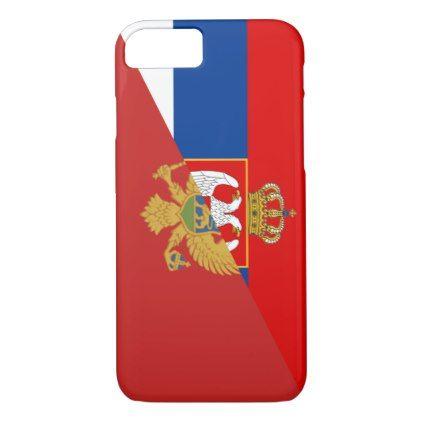 serbia montenegro flag country half symbol iPhone 8/7 case - diy cyo customize personalize design