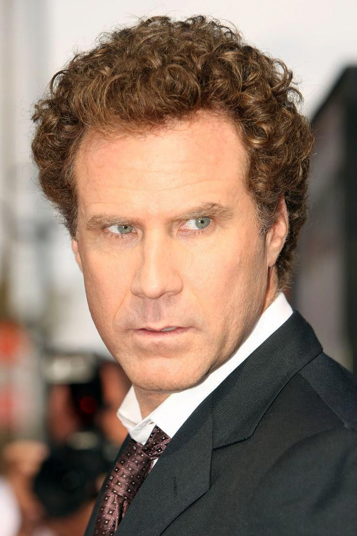 8 yr old boy hairstyles  famous men with curly hair will ferrell menshairstyles  mens
