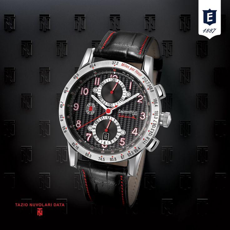 Tazio Nuvolari Data by Eberhard & Co. #tazionuvolari #eberhard_co #eberhardwatches www.eberhard-co-watches.ch