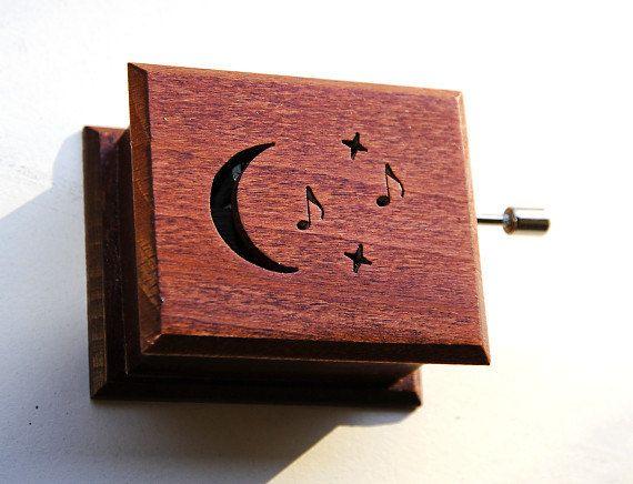 Wooden music box musical box Beethoven: Moonlight Sonata