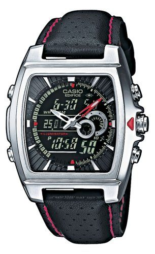 Casio Stainless Steel Edifice Square Black Dial Chronograph Strap Red Accents Casio,http://www.amazon.com/dp/B000GIW5NQ/ref=cm_sw_r_pi_dp_f25jtb1HWXCG3SKK