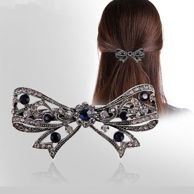 ファッションの女の子ヘアクリップアクセサリーluxuruousヘアクリップアクセサリー用女性蝶ヘアクリップ女の子のため
