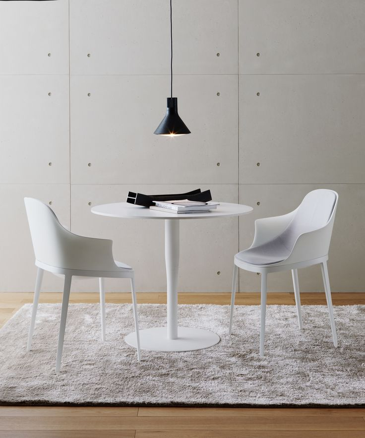 Elle #chairs by Eugeni Quitllet together with atlas #table by Jasper Morrison  #totalwhite #design #interiordesign #interiors #homefurniture #homedesign #home