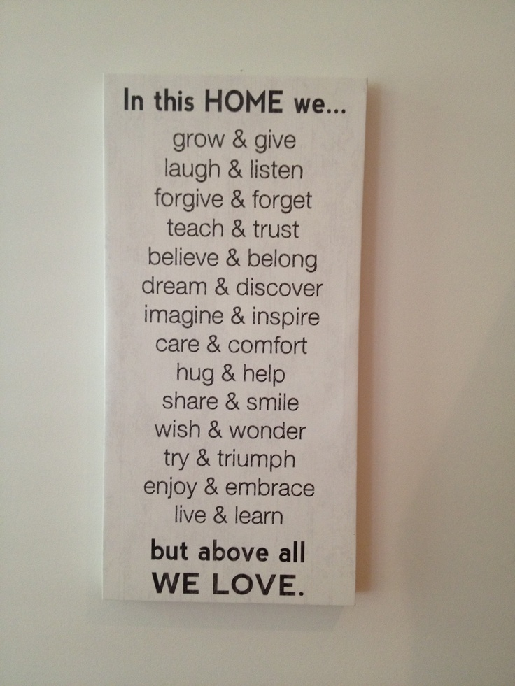 In This Home We Grow Amp Give Laugh Amp Listen Forgive