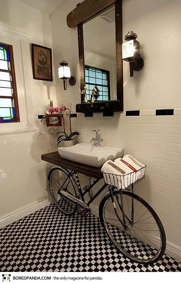 Bicycle Into Sink Stand @Erika Stavropoulos-DeFilippo