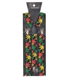 Tiekart Black And Yellow Suspenders