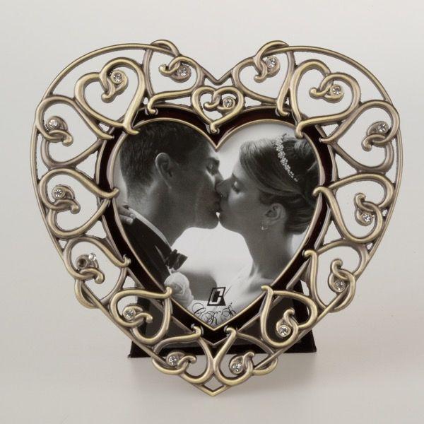 Złota ramka w kształcie serca 9×9 cm | 28,00 PLN