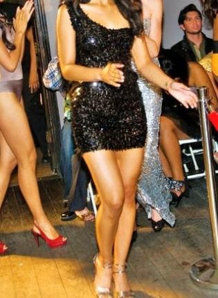 Black sequin one shoulder mini dress: Spring Style