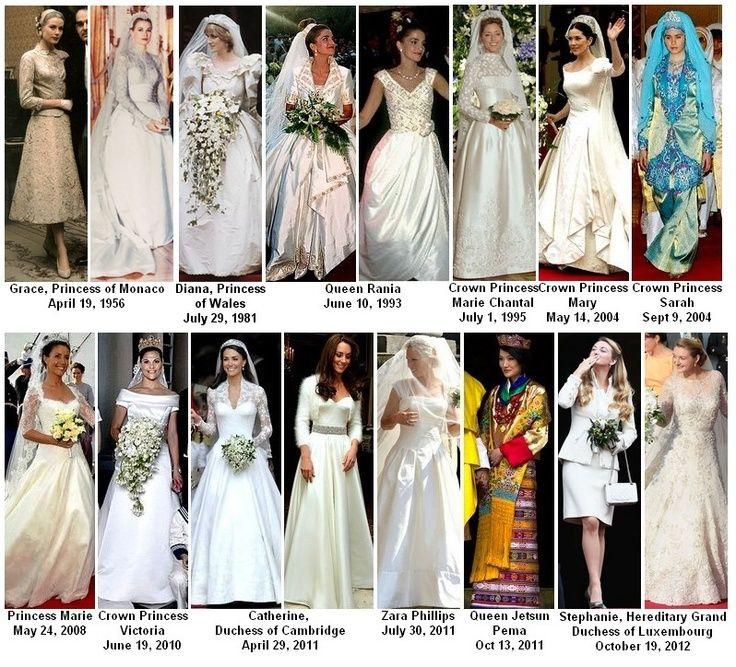 Royalty fashions royal wedding dresses but shame sarah for British royal wedding dresses
