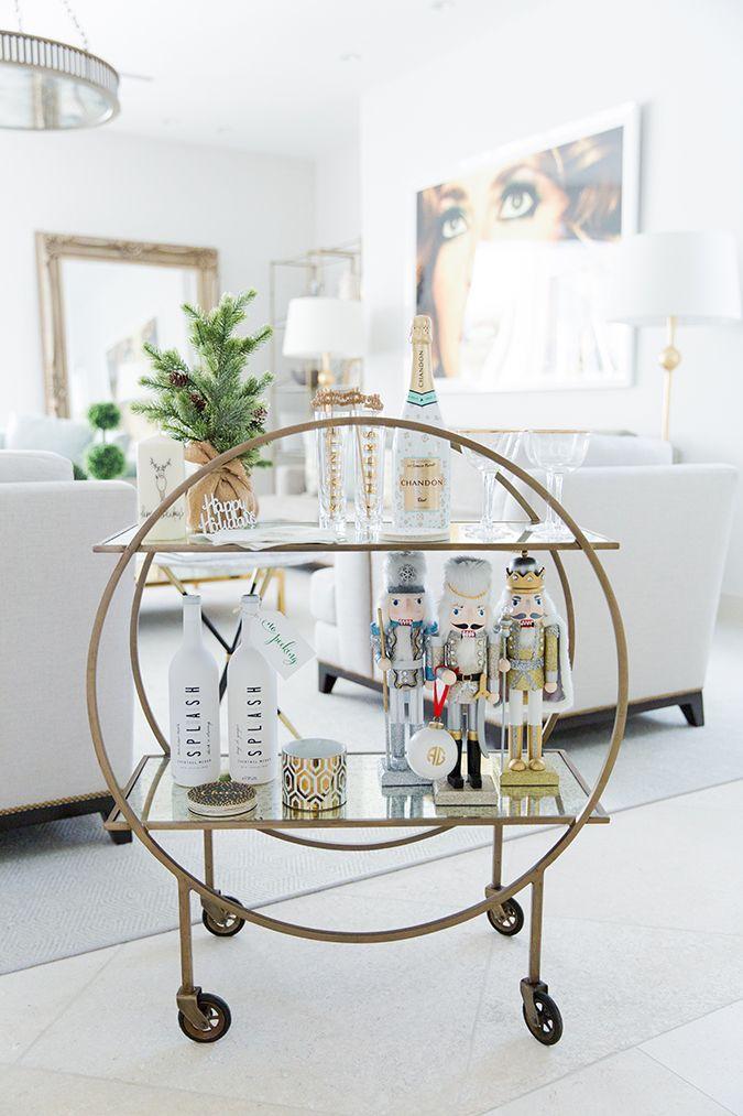 Elegant Small Round Bar Cart