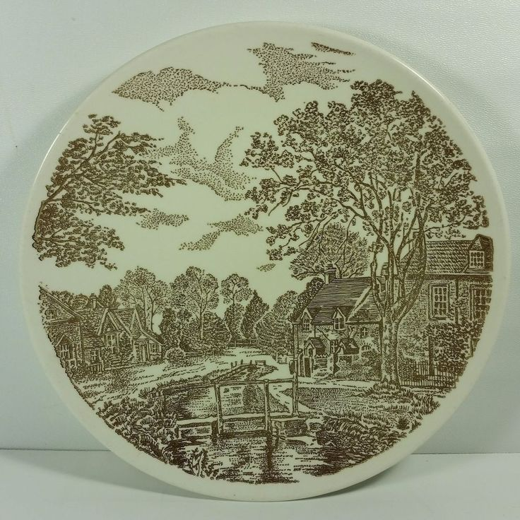 Taylor Smith Taylor Ironstone Transferware USA Yorkshire Vintage Dinner Plate #TaylorSmithTaylor #Transferware