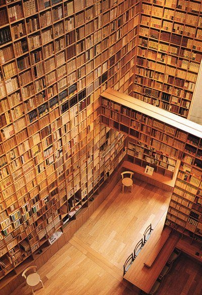 Tadao Ando's library design for the Shiba Ryotaro Memorial Museum in Osaka