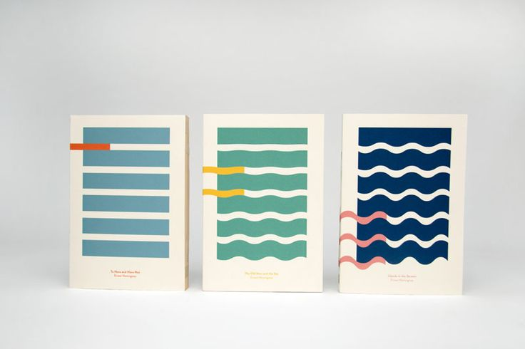 Hemingway and the Sea - minimalist book cover design by Kajsa Klaesén #minimal #packaging #book