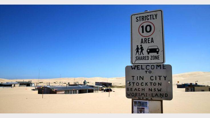 Tin City, Stockton, near Newcastle, NSW.