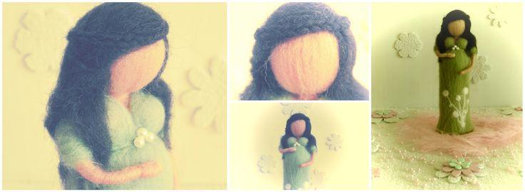 Celebrando a vida  : Boneca em lã feltrada