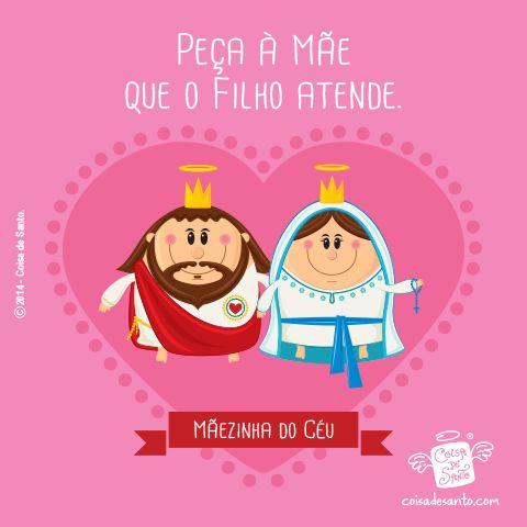 Peça à mãe, que o filho atende! #jesuscristo #virgemmaria #catequese #cristianismo #avemaria