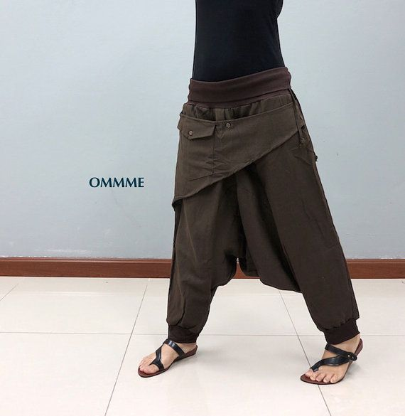 Hey, I found this really awesome Etsy listing at https://www.etsy.com/listing/250585034/aloha-harem-pants-014-brown