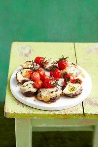A great veggie BBQ dish - mushroom cheese stacks! Melt in the mouth yumminess!