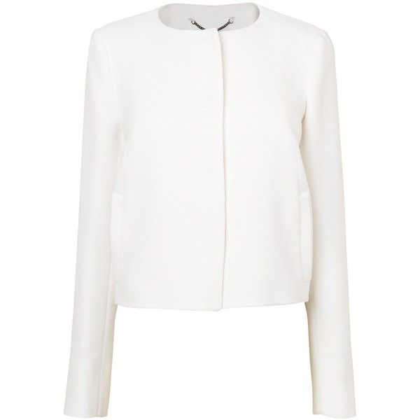 L.K. Bennett Perth Cocoon Jacket Cream (11.440 RUB) ❤ liked on