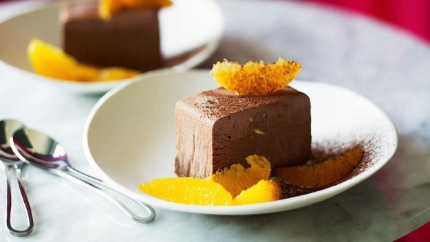 Chocolate parfait with orange salad, chocolate recipe, brought to you by Australian Women's Weekly