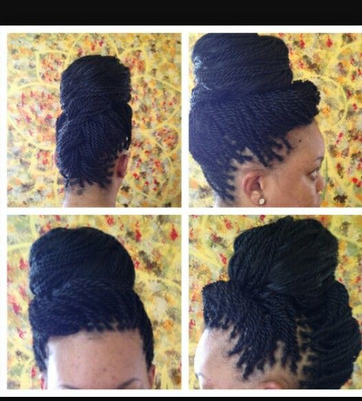 Best 25 senegalese twist hairstyles ideas on pinterest twist senegalese twist in an updo pmusecretfo Image collections