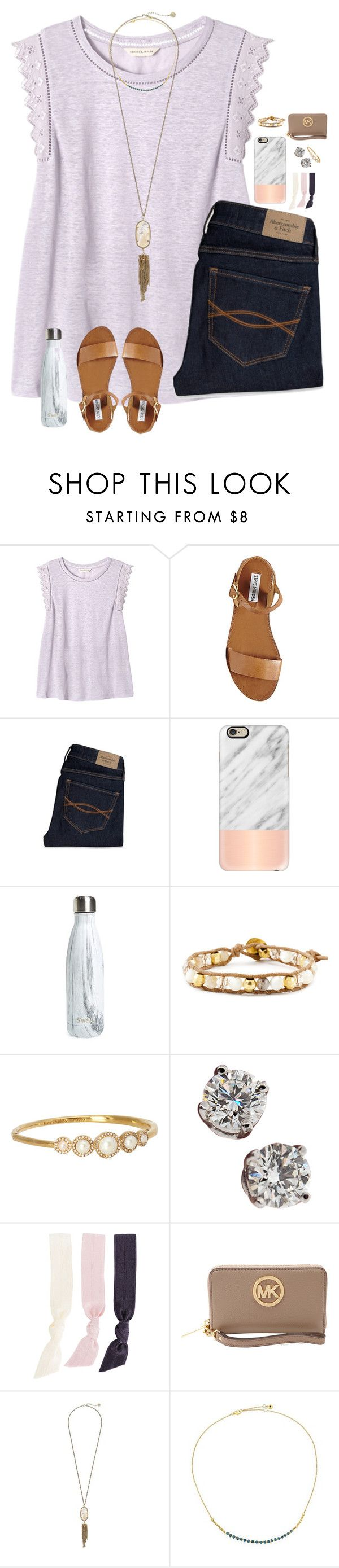 """overflow montgomery 2016!!"" by melaniebethc ❤ liked on Polyvore featuring Rebecca Taylor, Steve Madden, Abercrombie & Fitch, Casetify, S'well, Chan Luu, Kate Spade, Tiffany & Co., Splendid and MICHAEL Michael Kors"