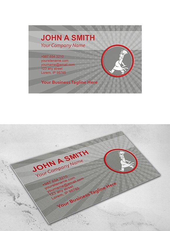 Business Card Template Chef Cook Ser Business Card Template Business Cards Creative Templates Business Card Template Design
