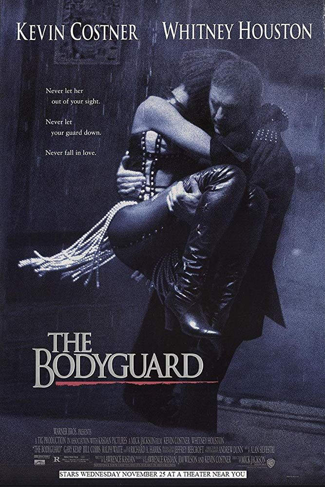 The Body Guard (1992) Kevin costner, The bodyguard movie