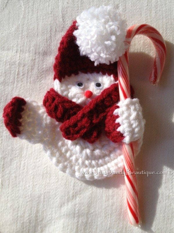 Crocheted Snowman Ornament. Inspiration pic. to make my own.