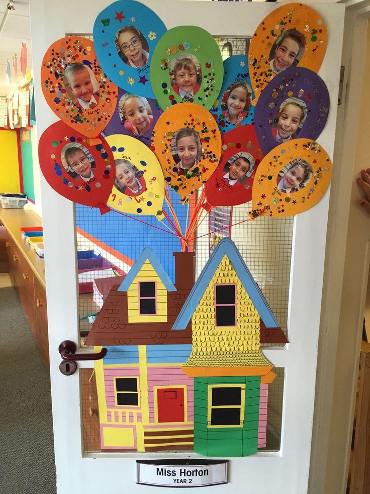 My very own 'Up' classroom door! Teaching displays