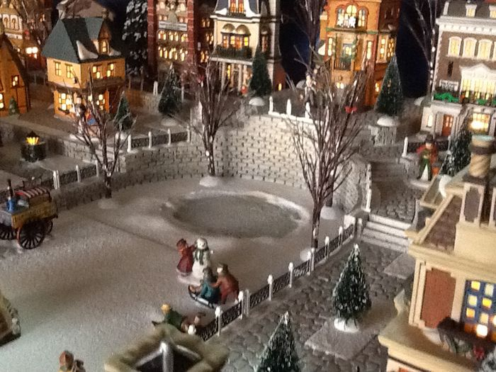 Christmas Village Platforms.Christmas Village Display Platforms Merry Christmas And
