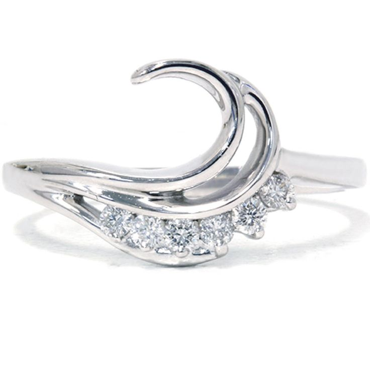 wedding ring guard 1 4ct curved wedding engagement guard ring band 9957