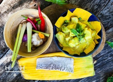 Fish amok (Cambodian yellow curry)