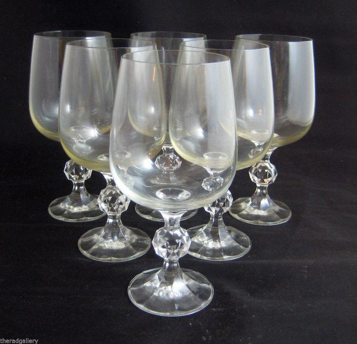 Claudia Bohemia Crystal Stemware Lot Wine Goblets Water