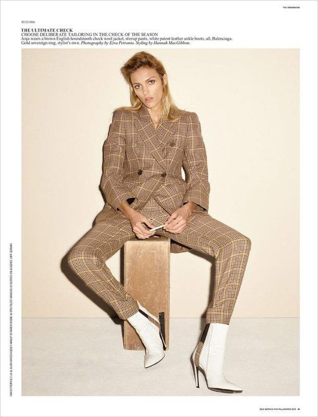 Anja Rubik in a New Take on Vintage for Self Service FW16 Issue