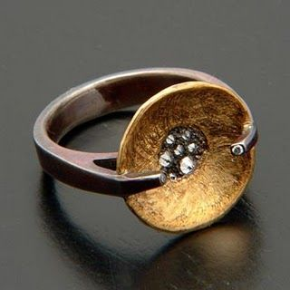 Todd Pownell ring (or, Diamonds for the Modern Girl)