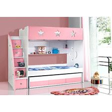 Stars and Moon Bunk Bed with Trundle - Wayfiar $995