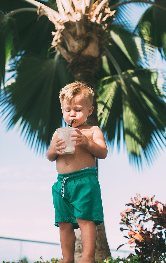 Little Mini getting his slurp on #babystyle