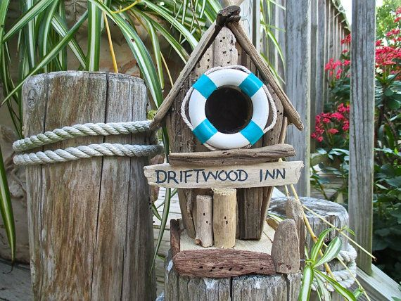 Driftwood Birdhouse Driftwood Inn Turquoise Life by searchnrescue2