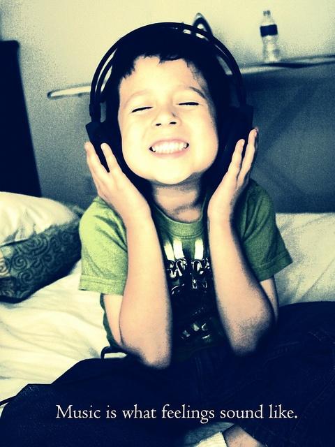 Music is what feelings sound like. =)