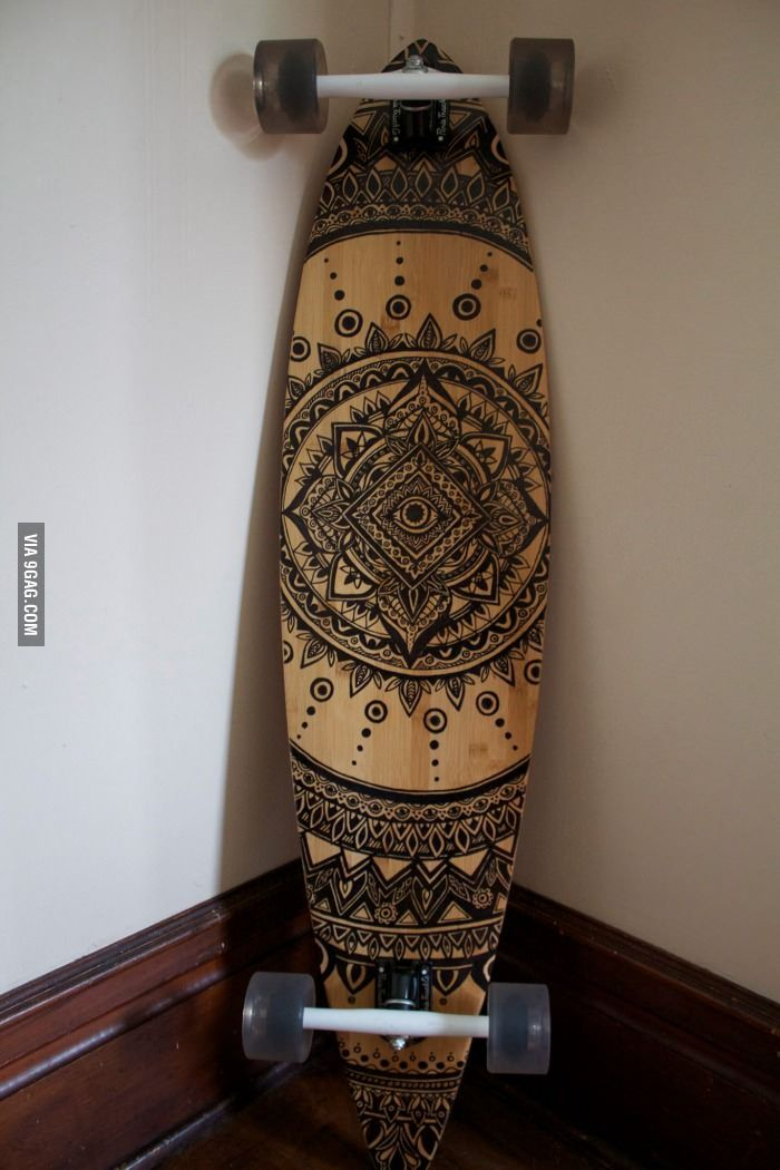 Skateboard Design Ideas black and white mandala skateboard by lavaboards on etsy A Friend Sat Down And Free Handed This Over The Course Of Three Hours With A Sharpie Longboard Designskateboard