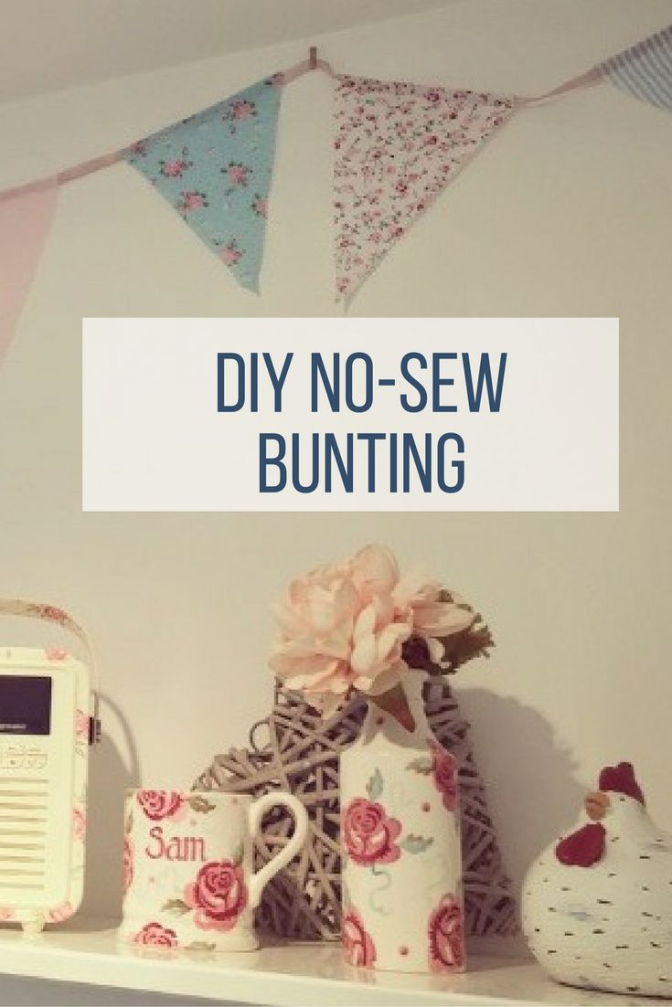 For my wedding I handmade 20m of bunting, without the use of a sewing machine. It now hangs pride of place in our kitchen, so here's my no-sew method of making vintage style bunting cheaply, quickly and easily.